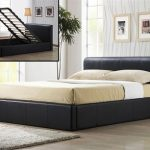 Time Living Frankfurt Double Brown Faux Leather Ottoman Bed Frame