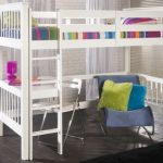 Limelight Pavo White Study Bunk Bed Frame