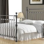Time Living Edward Double Black Nickel Bed Frame