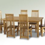 Seconique Tortilla 182cm Pine Dining Table And 6 Expresso Brown Chairs