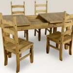 Seconique Corona 160cm Pine Extending Dining Table And 4 Chairs Set