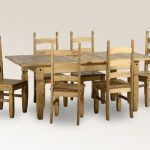 Seconique Corona 160cm Pine Extending Dining Table And 6 Chairs Set