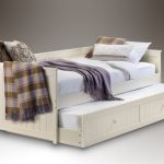 Julian Bowen Jessica Ivory Wooden Day Bed With Guest Bed Frame