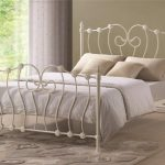 Time Living 4ft Inova Small Double Ivory Metal Bed Frame