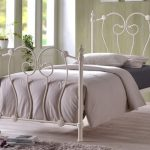 Time Living Inova Single Ivory Metal Bed Frame