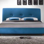 Time Living Sache Double Teal Fabric Bed Frame