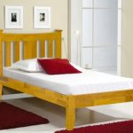 Asc Erin Single Oak Bed Frame (low Footend)