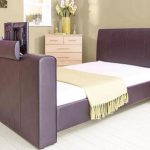 Gfw Brooklyn Double Brown Faux Leather Tv Bed Frame