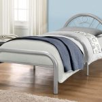 Birlea Solo Single Silver Metal Bed Frame