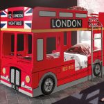 Haani London Bus Red Bunk Bed Frame