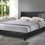 Birlea Berlin King Size Black Faux Leather Bed Frame
