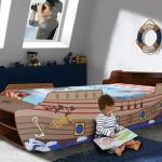 Haani Pirate Ship Single Bed Frame