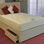Deluxe Cotton Pocket 3000 Super King Size Mattress With Faux Suede Div