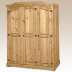 Core Flat Packed Corona Pine 3 Door Triple Wardrobe