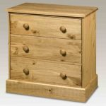 Core Flat Packed Cotswold Pine 3 Drawer Low Chest Of Drawers