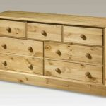 Core Flat Packed Cotswold Pine 3+4 Chest Of Drawers