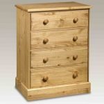Core Flat Packed Cotswold Pine 4 Drawer Chest Of Drawers
