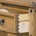 Core Flat Packed Corona Pine 2 Drawer Small Bedside Cabinet
