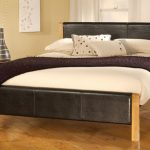 Limelight Mira Double Black Faux Leather Bed Frame