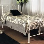 Limelight 4ft Nimbus Small Double Ivory Metal Bed Frame