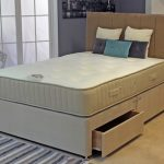 Deluxe Luxury Memory Pocket 3000 Double Mattress With Faux Suede Divan