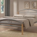 Limelight 4ft Pegasus Small Double Silver Metal And Beech Bed Frame