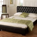 Limelight Aries Double Black Faux Leather Bed Frame