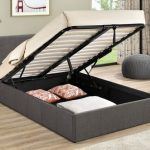Birlea 4ft Berlin Small Double Grey Fabric Ottoman Bed Frame