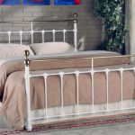 Limelight Tarvos King Size White Metal Bed Frame