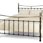 Serene Edwardian Ii Double Black Metal Bed Frame