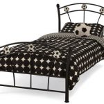 Serene Soccer Single Black Metal Football Bed Frame