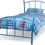 Serene Penny Single Blue Metal Bed Frame
