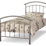 Serene Mercury Single Silver Metal Bed Frame
