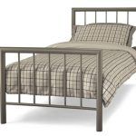 Serene Modena Single Champagne Metal Bed Frame