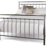 Serene Elizabeth Double Grey Metal Bed Frame
