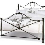 Serene Lyon Double Black Metal Bed Frame
