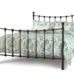 Serene Marseilles Double Black Metal Bed Frame