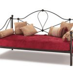 Serene Lyon Black Metal Day Bed Frame