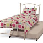 Serene Penny White Metal Guest Bed Frame