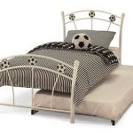 Serene Soccer White Metal Football Guest Bed Frame
