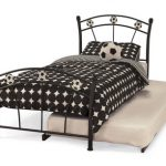 Serene Soccer Black Metal Football Guest Bed Frame