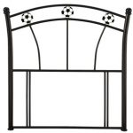 Serene Soccer Black Metal Single Headboard