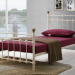 Birlea Atlas Single Cream Metal Bed Frame