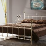 Birlea Atlas Double Cream Metal Bed Frame