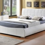 Limelight Dorado Double White Faux Leather Bed Frame