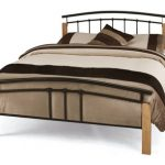 Serene Tetras King Size Black Metal And Beech Bed Frame