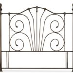 Serene Jessica Floor Standing Nickel Double Headboard