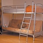 Sweet Dreams Troy Silver Metal Triple Sleeper Bed Frame