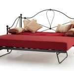 Serene Lyon Black Metal Day Bed With Guest Bed Frame