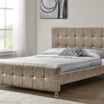 Tgc Sansa King Size Mink Chenille Fabric Bed Frame